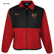 TM7450WB - EMB - FLEECE JACKET WITH NYLON PANELS